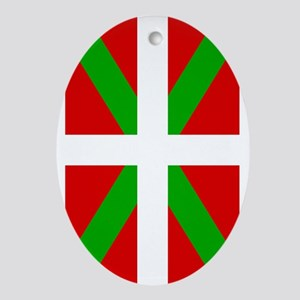 Basque Flag Oval Ornament