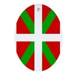 Basque Flag Oval Ornament