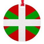 Basque Flag Round Ornament