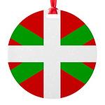 Basque Flag Round Ornament
