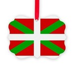 Basque Flag Picture Ornament