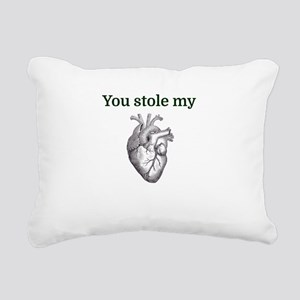You stole my heart Rectangular Canvas Pillow