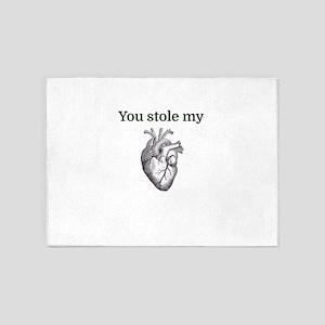 You stole my heart 5'x7'Area Rug