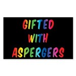 Gifted With Aspergers Sticker