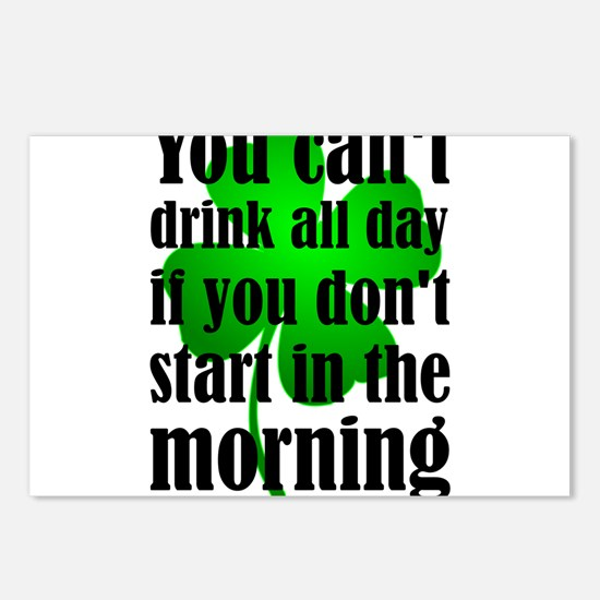 You Can't Drink All Day I Postcards (Package of 8)