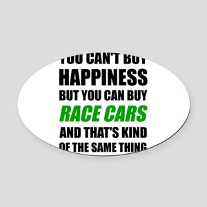 You Can't Buy Happiness But You Ca Oval Car Magnet