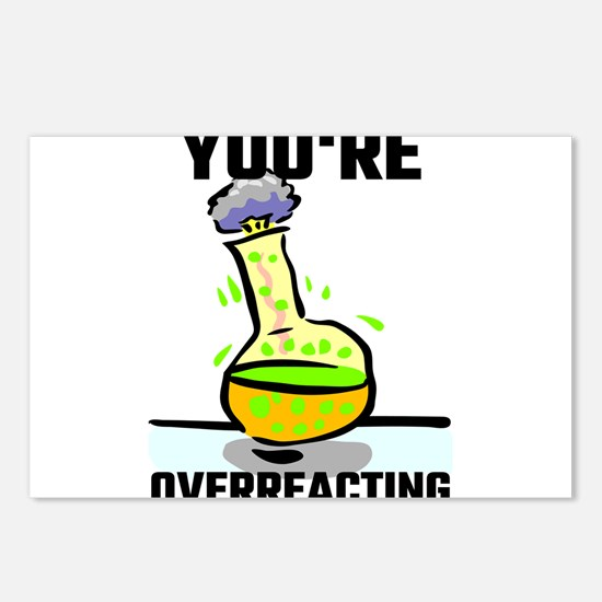 You're Overreacting Postcards (Package of 8)