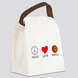 peace love Canvas Lunch Bag
