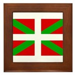 Basque Flag Framed Tile