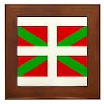 Basque Flag Framed Tile