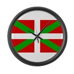 Basque Flag Large Wall Clock