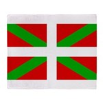 Basque Flag Throw Blanket