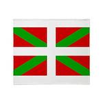 Basque Flag Throw Blanket