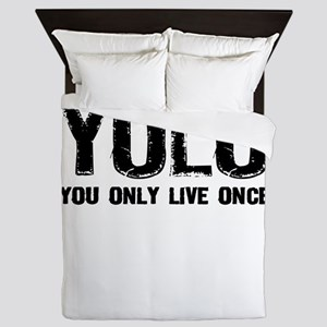 YOLO You Only Live Once Queen Duvet
