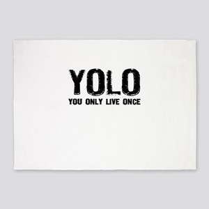 YOLO You Only Live Once 5'x7'Area Rug