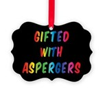 Gifted With Aspergers Picture Ornament