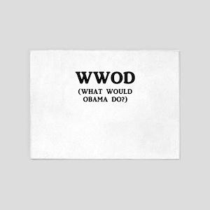 WWOD (What Would Obama Do?) 5'x7'Area Rug
