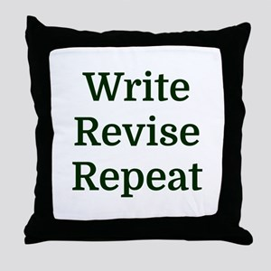 Write Revise Repeat Throw Pillow