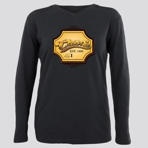 Cheers Sign Plus Size Long Sleeve Tee