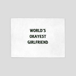 World's Okayest Girlfriend 5'x7'Area Rug