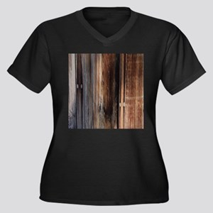 western country barn board Plus Size T-Shirt