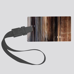 western country barn board Large Luggage Tag