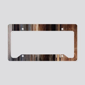 western country barn board License Plate Holder