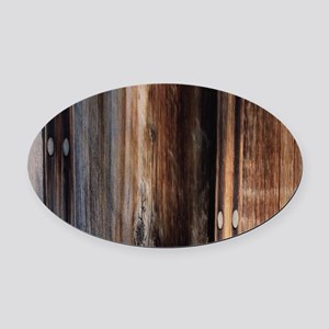 western country barn board Oval Car Magnet