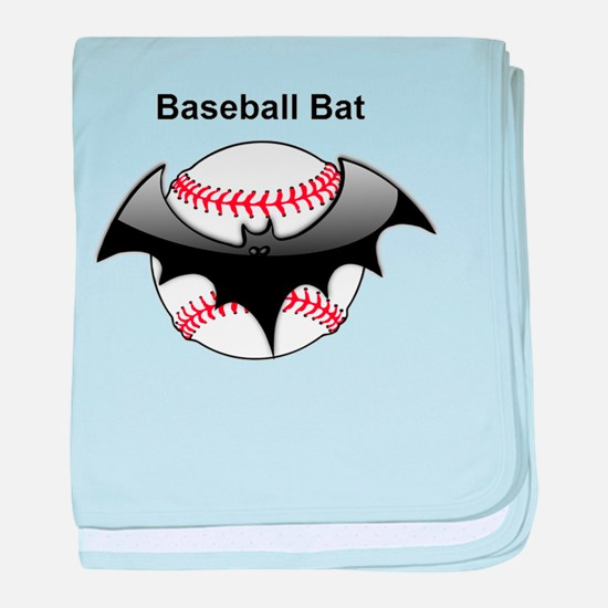 Halloween Baseball bat baby blanket