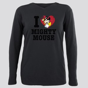 I Love Mighty Mouse Plus Size Long Sleeve Tee