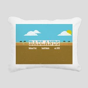 The Badlands National Pa Rectangular Canvas Pillow
