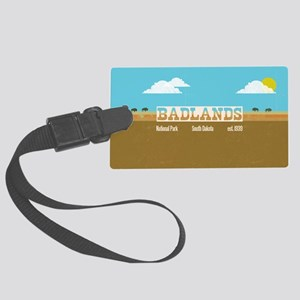 The Badlands National Park Bison Large Luggage Tag
