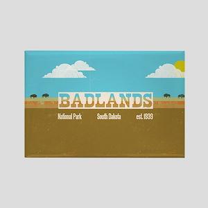 The Badlands National Park Bison Rectangle Magnet