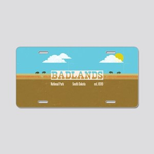 The Badlands National Park  Aluminum License Plate
