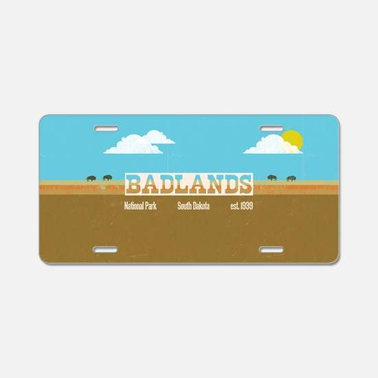 The Badlands National Park  Aluminum License Plate