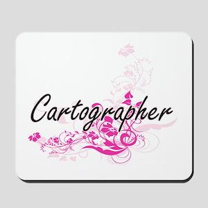 Cartographer Artistic Job Design with Fl Mousepad