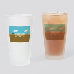 The Badlands National Park Bison Drinking Glass