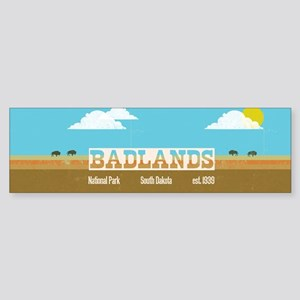 The Badlands National Park Bison Bumper Sticker
