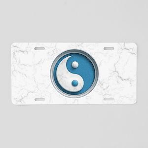 Marble Yin Yang Aluminum License Plate