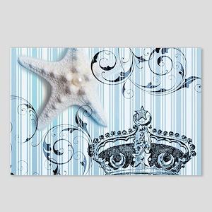 blue starfish ocean seash Postcards (Package of 8)