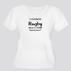 rugby coach Women's Plus Size Scoop Neck T-Shirt