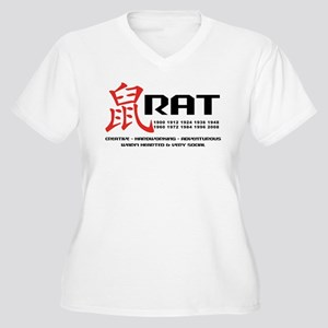 Year of The Rat Women's Plus Size V-Neck T-Shirt