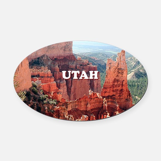 Utah: Bryce Canyon 5 Oval Car Magnet