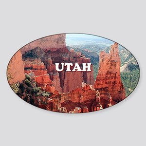 Utah: Bryce Canyon 5 Sticker (Oval)