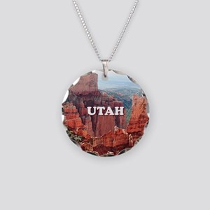 Utah: Bryce Canyon 5 Necklace Circle Charm