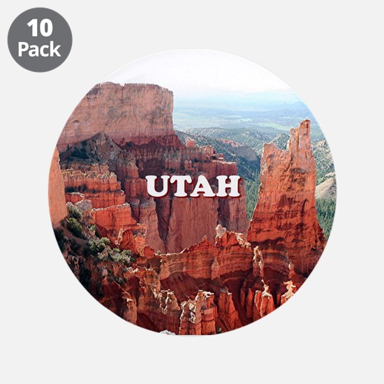 "Utah: Bryce Canyon 5 3.5"" Button (10 pack)"