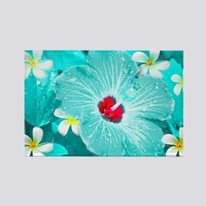 Blue Hawaii Rectangle Magnet