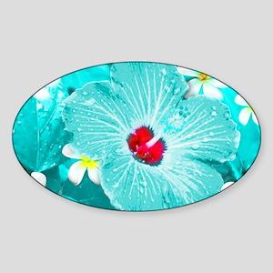Blue Hawaii Sticker (Oval)
