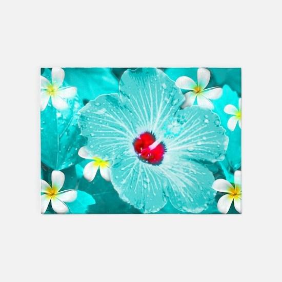 Blue Hawaii 5'x7'Area Rug