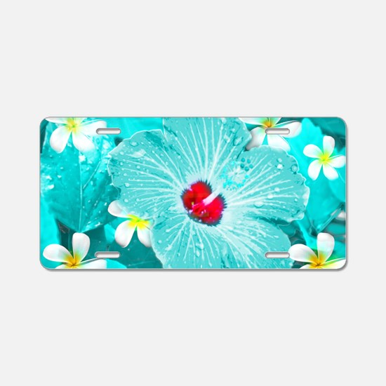 Blue Hawaii Aluminum License Plate